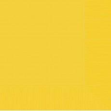 Sunshine Yellow Lunch Napkins 33cm x 33cm Pack of 20