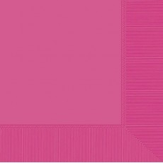 Bright Pink Lunch Napkins 33cm x 33cm Pack of 20