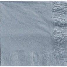 Silver Lunch Napkins 33cm x 33cm Pack of 20