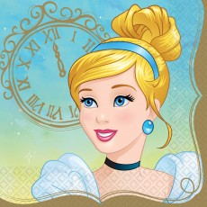 Disney Princess Once Upon A Time Cinderella Lunch Napkins Pack of 16