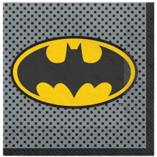Batman Party Supplies - Lunch Napkins Heroes Unite