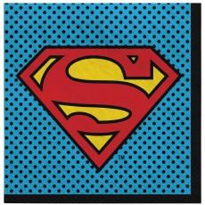 Justice League Heroes Unite Superman Lunch Napkins
