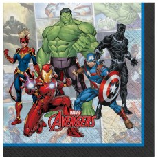 Avengers Party Supplies - Lunch Napkins Marvel Powers Unite