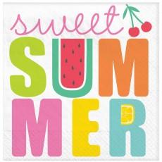 Hawaiian Luau Party Supplies - Lunch Napkins Tutti Frutti Summer