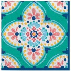 Boho Vibes Lunch Napkins Pack of 16
