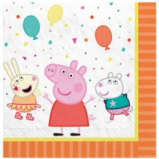 Peppa Pig Confetti Party Lunch Napkins