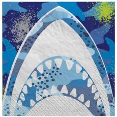 Shark Splash Party Supplies - Lunch Napkins