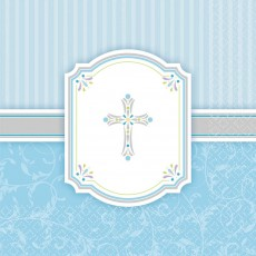 First Communion Blue Blessings Lunch Napkins
