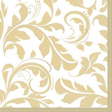 50th Anniversary Gold Scroll Elegant Lunch Napkins