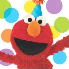 Sesame Street Elmo Party Lunch Napkins
