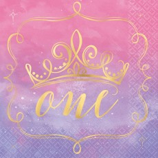 Disney Princess Once Upon A Time 1st Birthday One Lunch Napkins Pack of 16