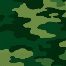 Camouflage Lunch Napkins