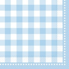 Baby Shower - General Baby Blue Gingham Lunch Napkins