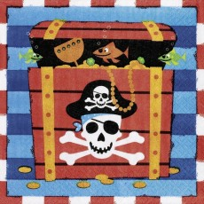 Pirate's Treasure Lunch Napkins 33cm x 33cm Pack of 16