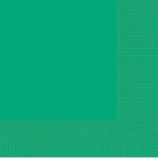 Festive Green Dinner Napkins 40cm x 40cm Pack of 20