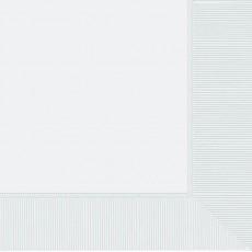 Frosty White Dinner Napkins 40cm x 40cm Pack of 20