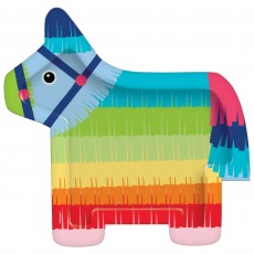Mexican Fiesta Party Supplies - Banquet Plates Fiesta Donkey Shaped
