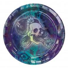 Round Iridescent Midnight Mayhem Lunch Plates 17cm Pack of 8