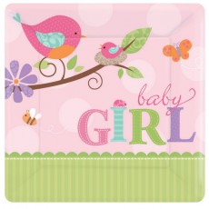 Tweet Baby Girl Lunch Plates
