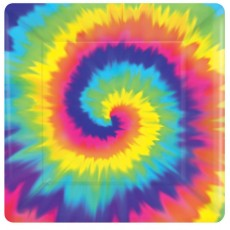 Square Feeling Groovy & 60's Lunch Plates 17cm Pack of 8