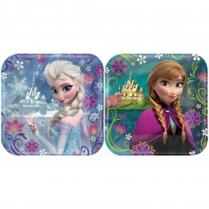 Square Disney Frozen Assorted Designs Lunch Plates 17cm Pack of 8