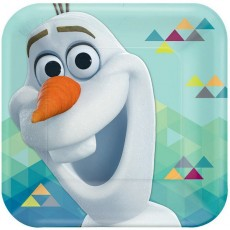 Square Disney Frozen Olaf Lunch Plates 17cm Pack of 8