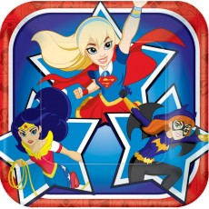 Super Hero Girls Party Supplies - Lunch Plates Paper