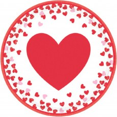 Love Confetti Hearts Lunch Plates 17cm Pack of 8