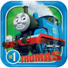 Square Thomas & Friends All Aboard Lunch Plates 18cm Pack of 8