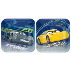 Disney Cars 3 Lunch Plates