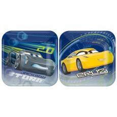 Disney Cars 3 Lunch Plates