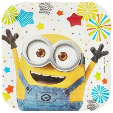 Square Minions Despicable Me Lunch Plates 17cm Pack of 8