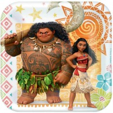 Moana Party Supplies - Lunch Plates