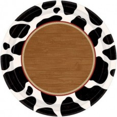 Round Cowboy & Western Lunch Plates 17cm Pack of 8