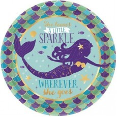 Mermaid Wishes Metallic Lunch Plates