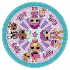 Round LOL Surprise Lunch Plates 17cm Pack of 8