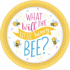 Round What Will It Bee? Lunch Plates 17cm Pack of 8