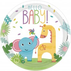 Round Fisher Price Hello Baby Lunch Plates 17cm Pack of 8