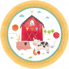 Barnyard Paper Lunch Plates