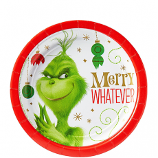 Christmas Dr. Seuss The Grinch Movie Lunch Plates