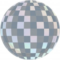 New Year Disco Ball Drop Lunch Plates