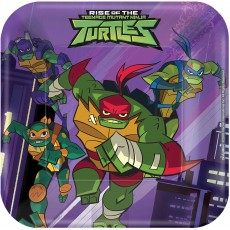 Square Rise of the Teenage Mutant Ninja Turtles Favours 17cm Pack of 8