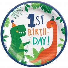 Dinosaur Party Supplies - Lunch Plates Dino-Mite 17cm