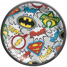 Justice League Heroes Unite Lunch Plates