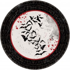 Halloween Dark Manor Paper Lunch Plates