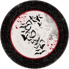 Halloween Party Supplies - Lunch Plates - Dark Manor Paper
