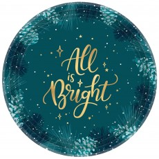 Christmas Very Merry Teal Lunch Plates