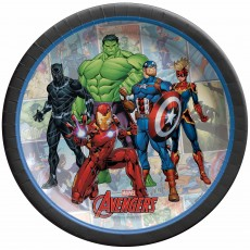 Avengers Party Supplies - Lunch Plates Marvel Powers Unite