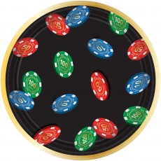 Casino Night Roll The Dice Lunch Plates