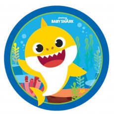 Baby Shark Paper Lunch Plates